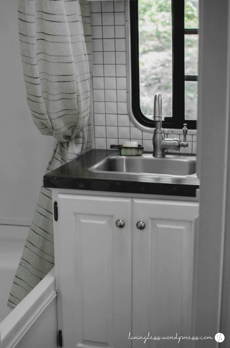 Avion Renovation Bathroom Sink @ livingless.wordpress.com