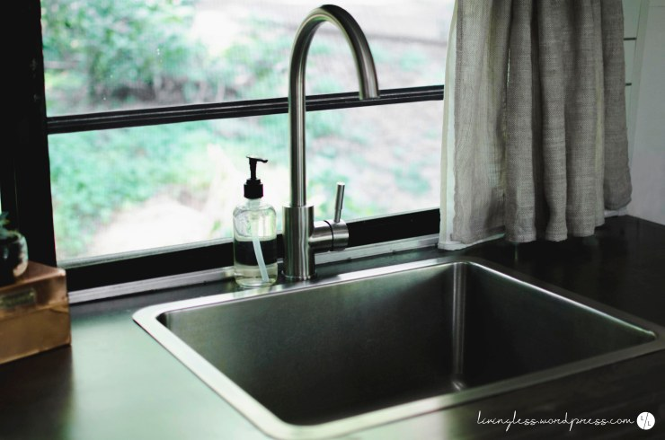 Avion Renovation Kitchen Sink @ livingless.wordpress.com