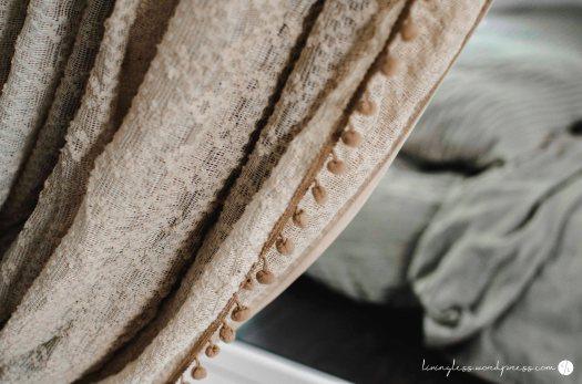 Avion Renovation Master Bed Curtain Closeup @ livingless.wordpress.com